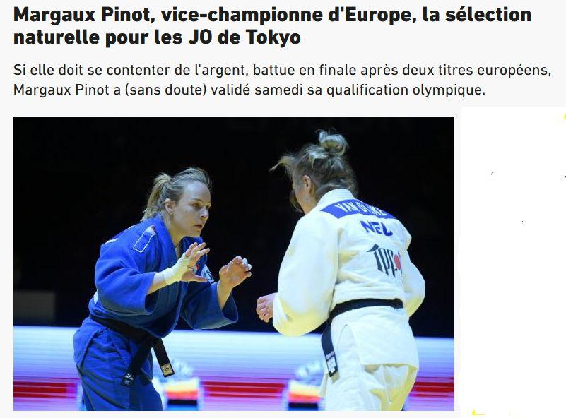 Margot Pinot  médaille d'argent aux championnats d'Europe